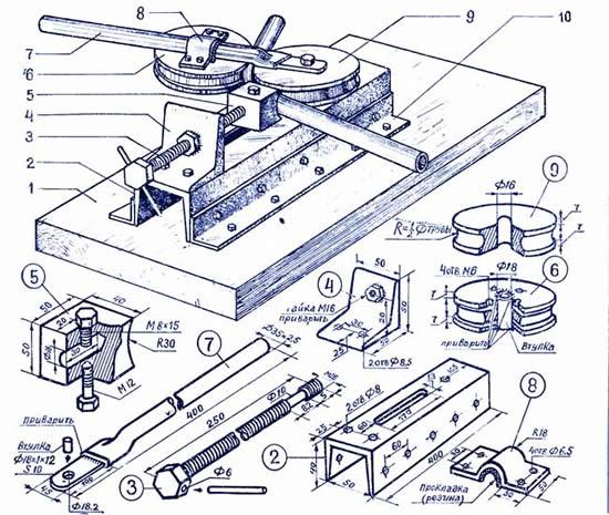 Гибочный станок для профильной трубы чертежи